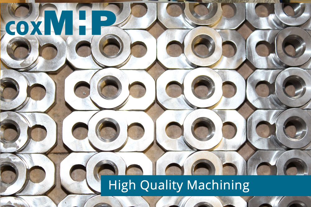 High quality machining of contract manufactured parts.