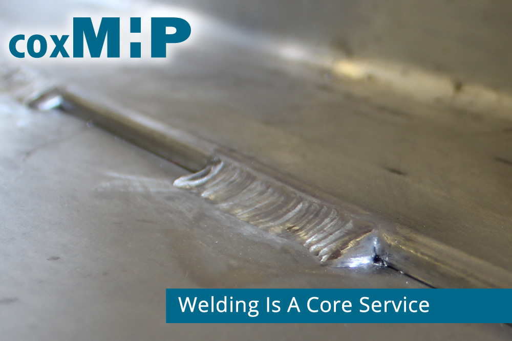 Welding is a core service used by CoxMHP to contract manufacture parts and equipment..